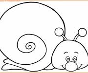 Coloring pages Easy Snail to print