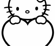 Coloring pages Hello Kitty Easy in color