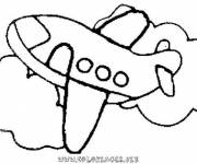 Coloring pages maternal easy plane