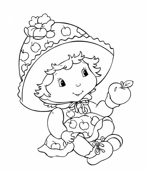 Free coloring and drawings A Girl Who Worships Fruits Coloring page