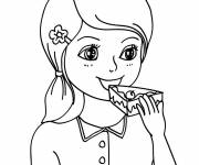 Free coloring and drawings Eat Cake Coloring page
