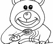 Free coloring and drawings Eat food Coloring page