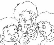 Free coloring and drawings Eat Ice Coloring page