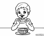 Free coloring and drawings Eat watermelon Coloring page