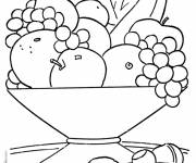 Free coloring and drawings Fruits on the table to download Coloring page