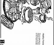 Free coloring and drawings Healthy food Coloring page