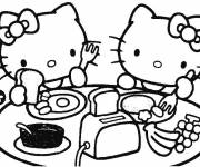 Free coloring and drawings Hello Kitty Many Coloring page