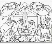Free coloring and drawings Jesus Eating Maternal Coloring page