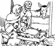 Coloring pages Maternal jesus