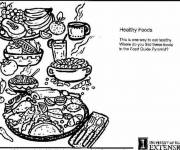 Free coloring and drawings Nutritious meal Coloring page