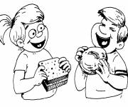 Coloring pages Online food