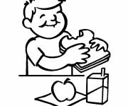 Free coloring and drawings To eat breakfast Coloring page