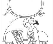 Coloring pages Egypt Horus