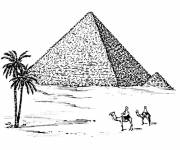 Coloring pages Egypt Maternal pyramid