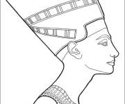 Coloring pages Egypt Nefertiti