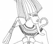 Coloring pages Egypt Pharaoh easy