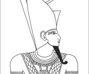 Coloring pages Egypt Pharaoh to decorate