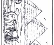 Coloring pages Egypt pyramid
