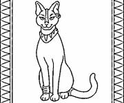 Coloring pages Egypt sacred cat