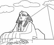 Coloring pages Egypt The Sphinx of Giza