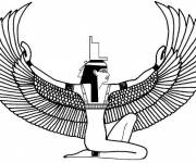 Coloring pages Egyptian God