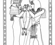Coloring pages Egyptian on papyrus