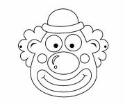 Coloring pages A clown face