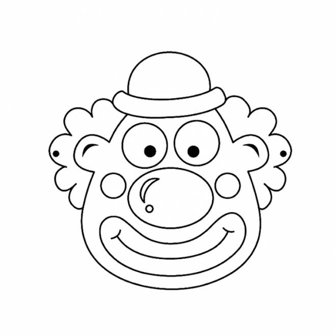 Free coloring and drawings A clown face Coloring page