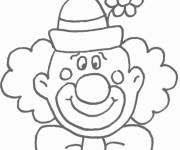 Coloring pages A funny clown to print