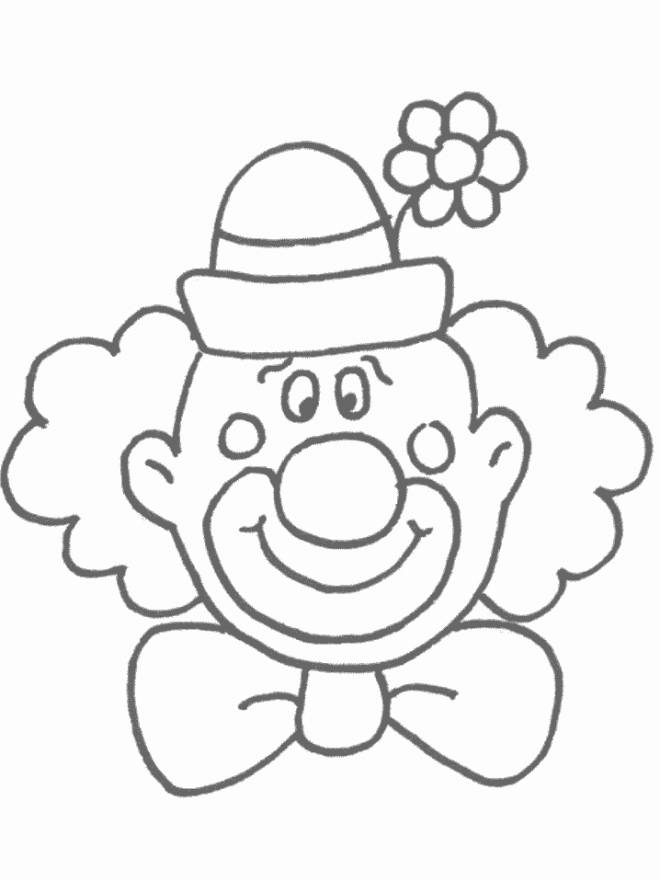 Free coloring and drawings A funny clown to print Coloring page