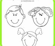 Free coloring and drawings Boy and Girl Face Coloring page