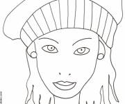 Free coloring and drawings Woman portrait Coloring page