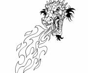 Coloring pages Chinese dragon for coloring