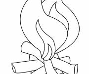 Coloring pages Easy fire