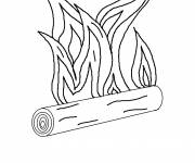 Coloring pages Fire and Wood