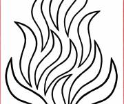 Coloring pages Fire color