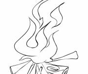 Coloring pages Fire Logs