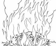 Coloring pages Huge fire
