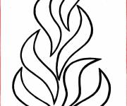 Coloring pages Maternal fire