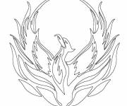 Coloring pages Phoenix the firebird