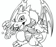 Coloring pages Pokemon fire dragon