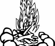 Coloring pages The Camping Fire