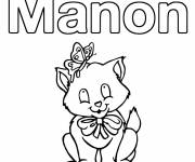 Coloring pages Manon First Names