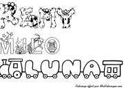 Coloring pages My First Name Remy