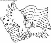Coloring pages American eagle