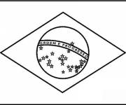 Coloring pages Brazil flag