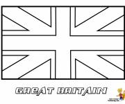 Coloring pages Great Britain flag