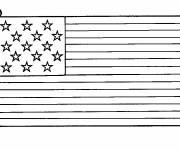 Coloring pages Maternal United States Flag
