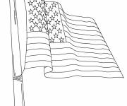 Coloring pages United States Flag