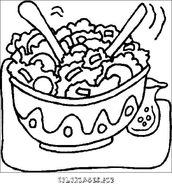Free coloring and drawings A nutritious meal Coloring page